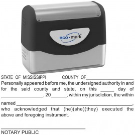 Mississippi Notary Acknowledgment Stamp