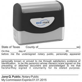 Texas Notary Acknowledgment Stamp
