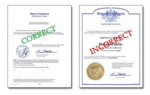 Order Now Ca Certificate Of Authorization Send Your Original To Manufacture Notary Public Seals