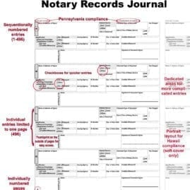 Notary Journal Features