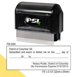 District of Columbia Notary Jurat Stamp