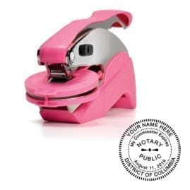 District of Columbia Notary Embosser - Ideal Seal Pink