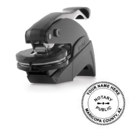 Arizona Notary Embosser - Ideal Seal Black