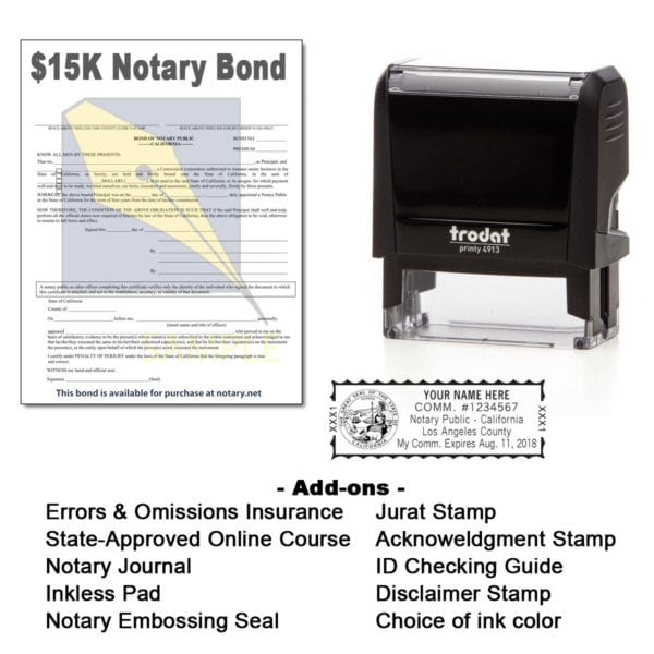 California Notary Supplies Package