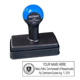 Massachusetts Traditional Notary Stamp - Shiny Duo