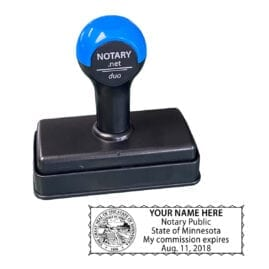 Minnesota Traditional Notary Stamp - Shiny Duo
